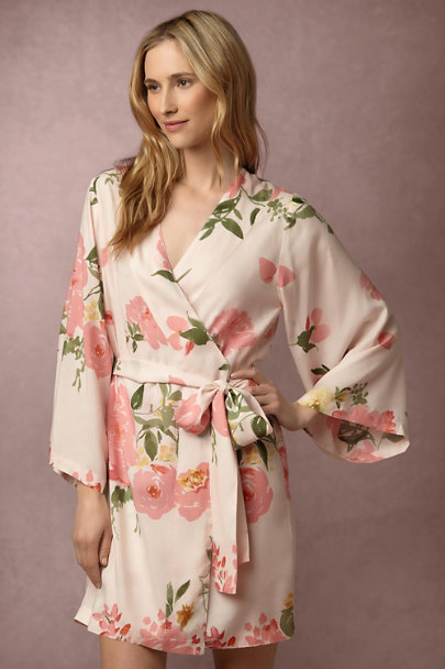 Plum Pretty Sugar Persimmon Botanic Garden Robe | BHLDN