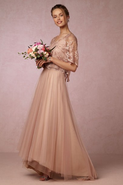 Donna Morgan Aurora Pink Embry Top | BHLDN