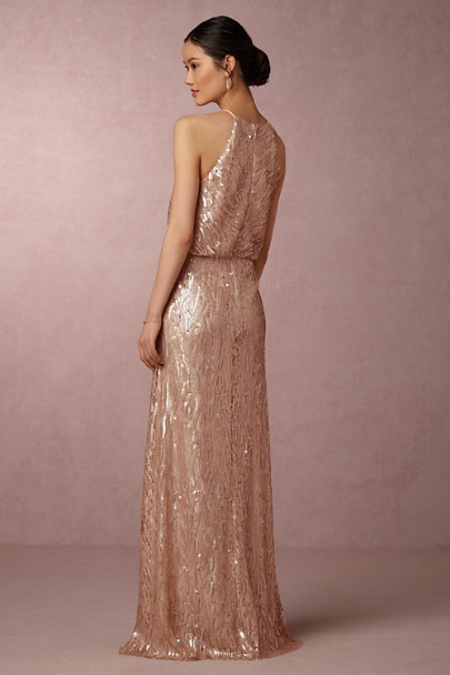 Donna Morgan Rose Gold Sequined Alana Dress | BHLDN