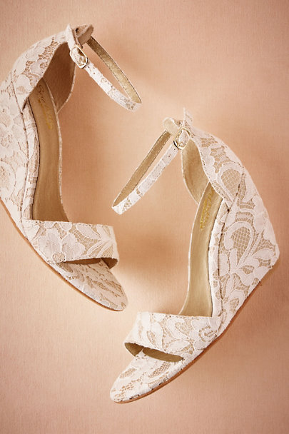 Seychelles Ivory Phoebe Lace Wedges  | BHLDN
