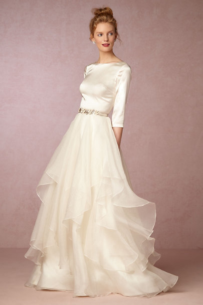 Watters Ivory/Vanilla Lowell Skirt | BHLDN