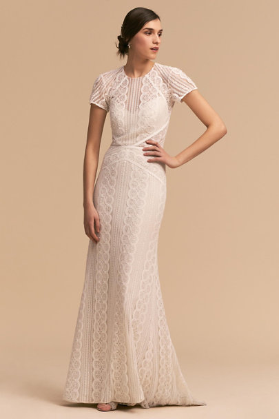 Watters Ivory/Oyster Monica Gown | BHLDN