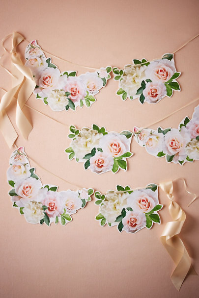 Pink Victorian Rose Garland | BHLDN