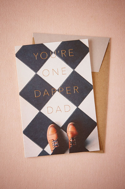 Black Dapper Dad Card | BHLDN