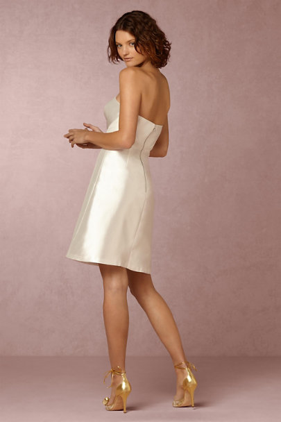 Kay Unger White Lux Dress  | BHLDN