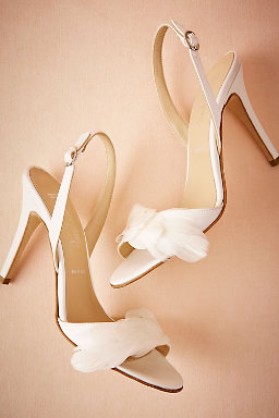 Plumed Slingbacks