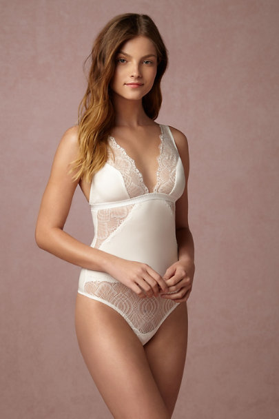 Ivory Laramie Lace Bodysuit | BHLDN