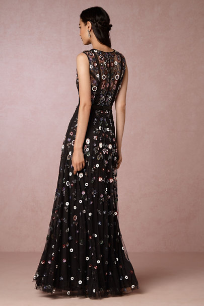 Needle & Thread Black Multi Corinna Dress | BHLDN