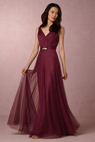 Hitherto Black Cherry Zaria Dress | BHLDN