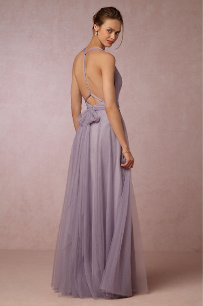Hitherto Lilac Grey Zaria Dress | BHLDN