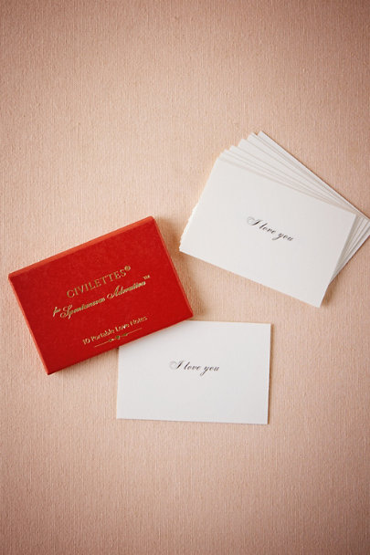 Red Civilettes Adoration Cards (10) | BHLDN