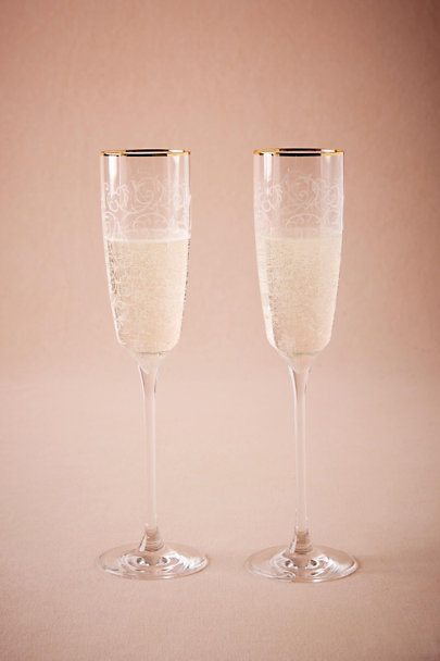 White Secret Garden Flutes (2) | BHLDN