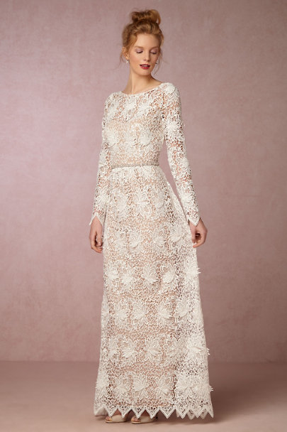 Korovilas Ivory/Nude Landry Dress | BHLDN