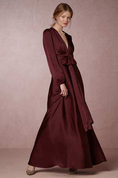 Jill Jill Stuart Oxblood Henrietta Dress | BHLDN