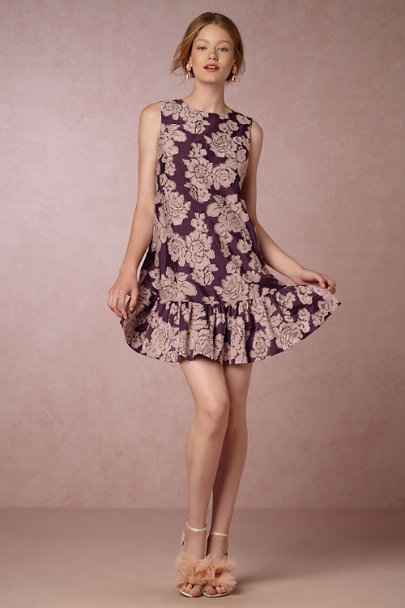 Cynthia Rowley Purple Jacquard Rita Dress | BHLDN