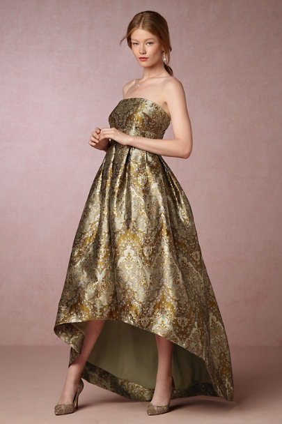 Cynthia Rowley Emerald Jacquard Mattie Dress | BHLDN