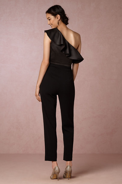 Cynthia Rowley Black Lancey Jumpsuit | BHLDN