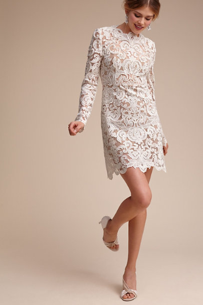Ivory/Nude Mother of Pearl Dress | BHLDN