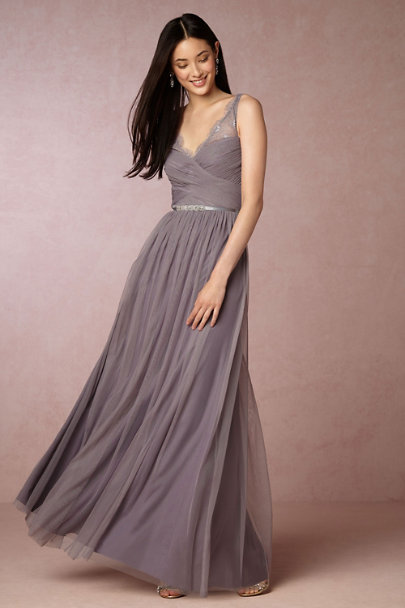 Hitherto Dusty Plum Fleur Dress | BHLDN
