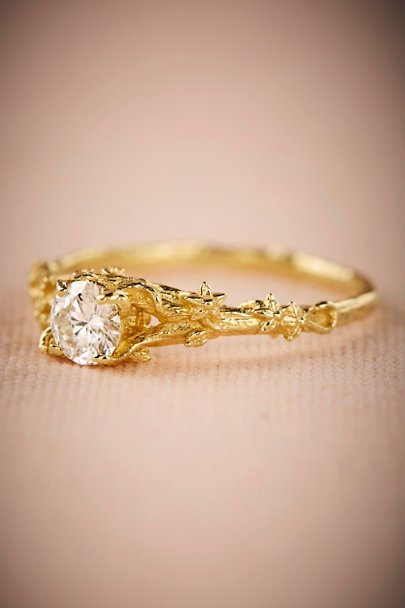 Alex Monroe Gold Vigne Diamond Ring | BHLDN