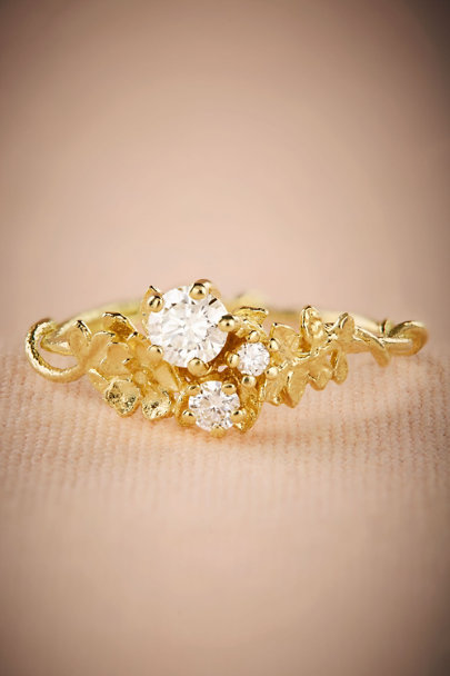 Alex Monroe Gold Roseraie Diamond Ring | BHLDN