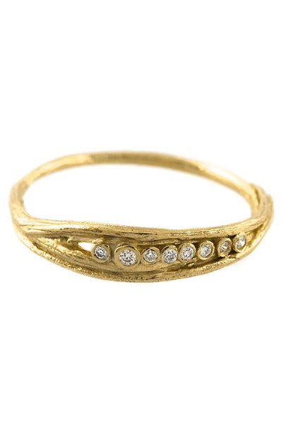Alex Monroe Gold Roble Diamond Ring | BHLDN