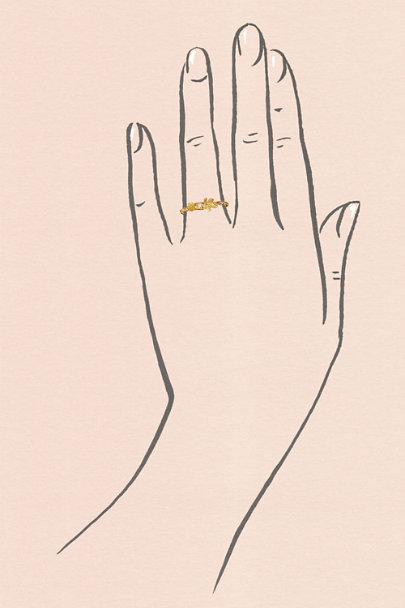 Alex Monroe Gold Wildrose Diamond Ring | BHLDN
