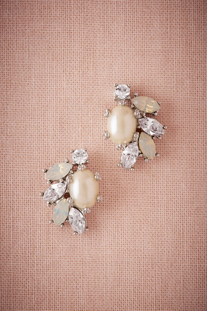 Silver Philippa Earrings | BHLDN
