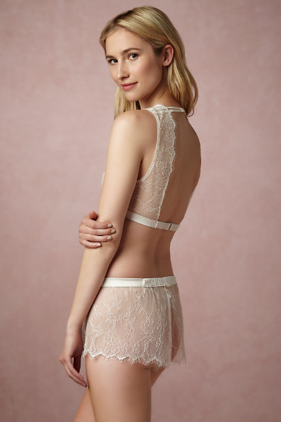 Ivory Isabeau Bralette & Short Set | BHLDN