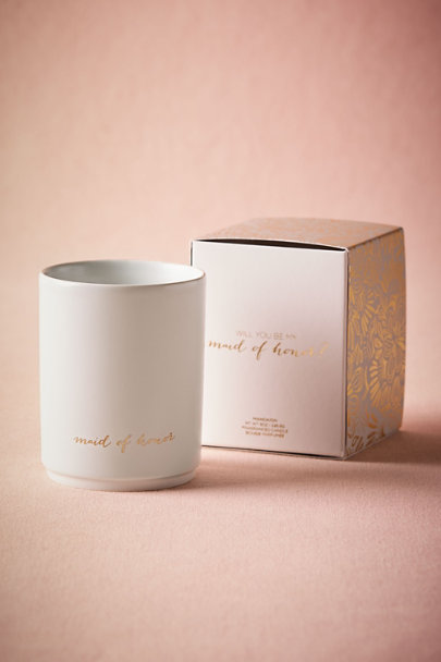 Maid of Honor Be My Maids Candle | BHLDN