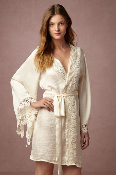 Band of Gypsies Creme Suri Kimono Robe | BHLDN