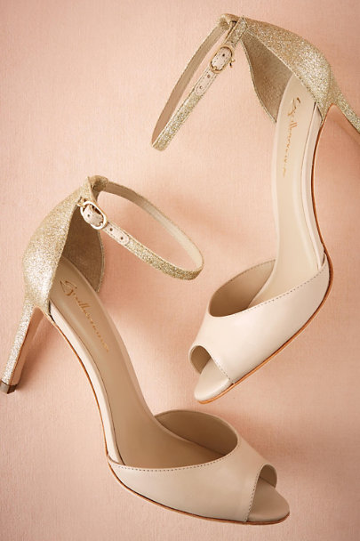 Guilhermina Gold Chandon Heels | BHLDN