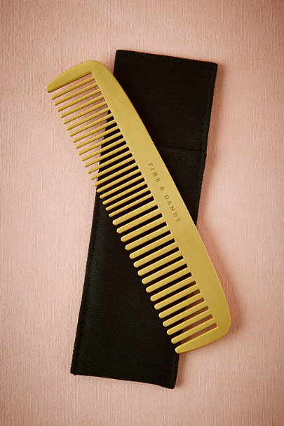 Gold Fine & Dandy Comb | BHLDN