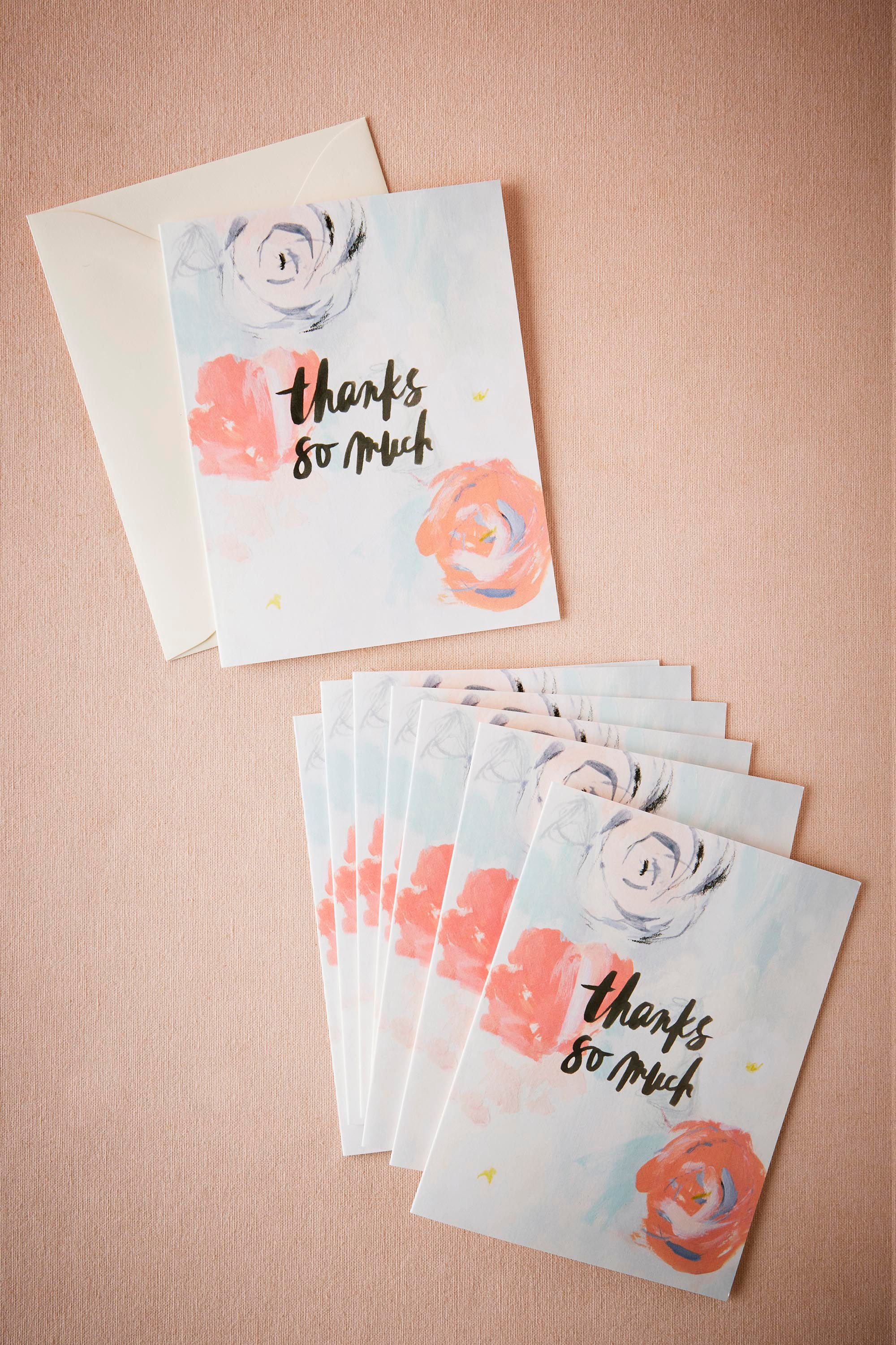 Waterflorals Thank You Cards (8)