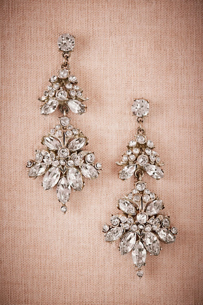Ben-Amun Silver Volant Chandelier Earrings | BHLDN