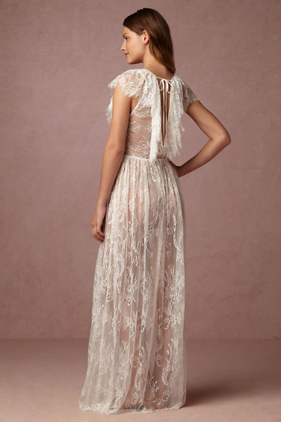 James Coviello Ivory Letizia Lace Robe | BHLDN