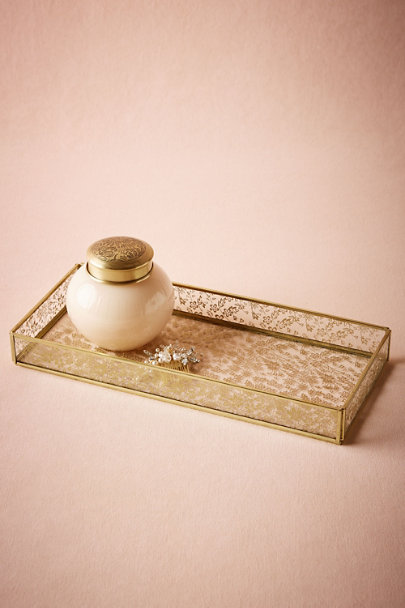 Gold Gilded Lace Tray | BHLDN