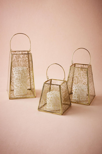 Gold Gilded Lace Lantern | BHLDN
