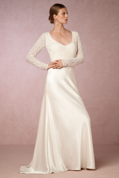 Theia Bridal Ivory Eden Top | BHLDN