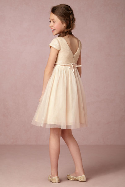 Jenny Yoo Champagne Minnie Dress | BHLDN