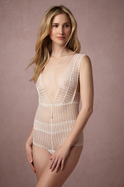 Ivory Chloe Lace Bodysuit | BHLDN