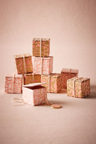 Rose Gilded Garden Gift Boxes (9) | BHLDN