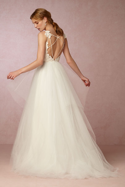 Simple Wedding Dress Accessories : Ivory champagne hayden gown in sale bhldn