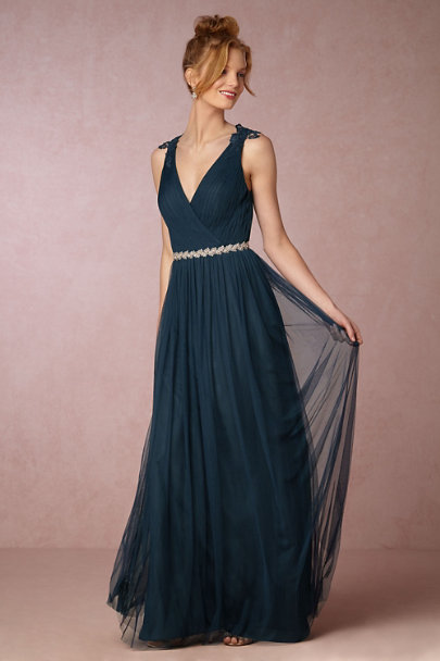 Watters Navy Pippa Dress | BHLDN