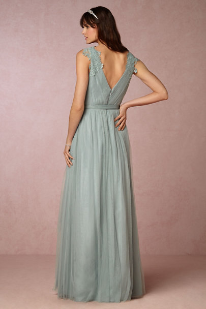 Watters Horizon Blue Pippa Dress | BHLDN