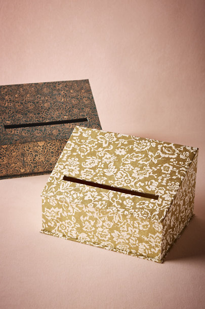 Gold Gilded Garden Envelope Holder | BHLDN