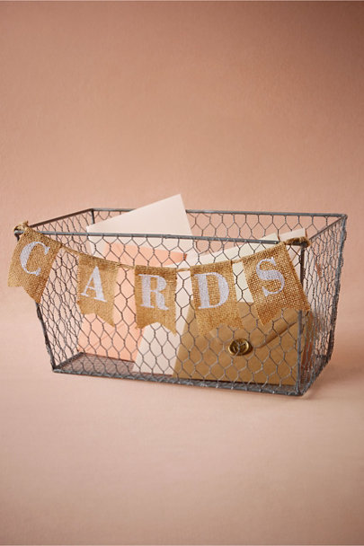 Silver Artful Card Basket | BHLDN