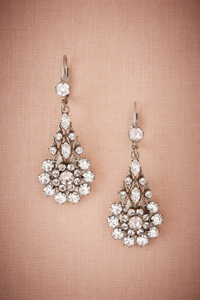 Sorrelli Silver Inge Crystal Drop Earrings | BHLDN