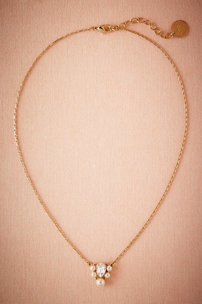Gold Deco Pendant Necklace | BHLDN