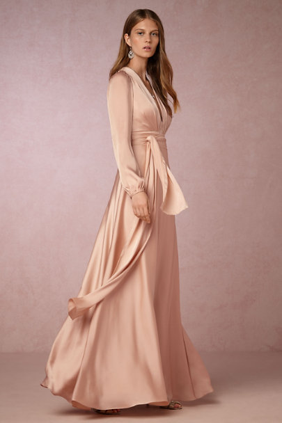 Jill Jill Stuart Rosy Nude Henrietta Dress | BHLDN